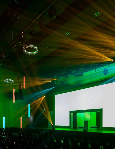 Halle, Licht, design, messe, event, licht, ton, video, bühne, eventtechnik, gleich, messebau, münster, beam